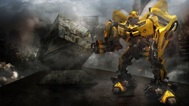 Transformers Bumblebee Matte Painting