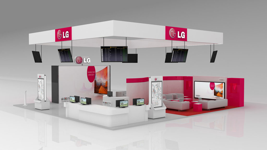 LG Airport Stand: 3D Design